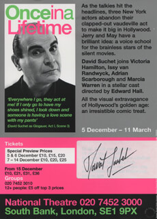 DAVID SUCHET - ADVERTISEMENT SIGNED