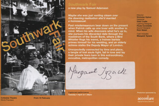 MARGARET TYZACK - ADVERTISEMENT SIGNED