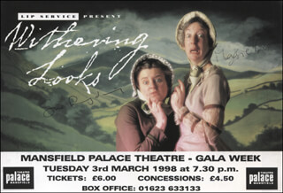 WITHERING LOOKS PLAY CAST - ADVERTISEMENT SIGNED CO-SIGNED BY: MAGGIE FOX, SUE RYDING