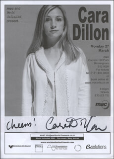 CARA DILLON - ADVERTISEMENT SIGNED