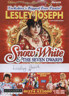 LESLEY JOSEPH - ADVERTISEMENT SIGNED