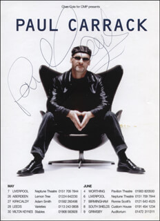 PAUL CARRACK - ADVERTISEMENT SIGNED