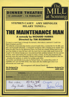 THE MAINTENANCE MAN PLAY CAST - ADVERTISEMENT SIGNED CO-SIGNED BY: AMY SHINDLER, HILARY TONES, STEPHEN CASEY