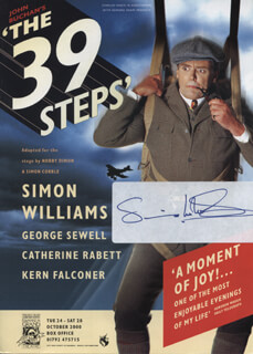 SIMON WILLIAMS - ADVERTISEMENT SIGNED