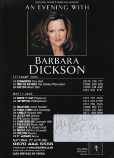 BARBARA DICKSON - ADVERTISEMENT SIGNED