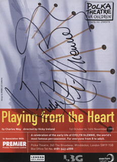 EVELYN GLENNIE - ADVERTISEMENT SIGNED