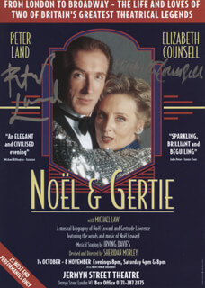 NOEL & GERTIE PLAY CAST - ADVERTISEMENT SIGNED CO-SIGNED BY: ELIZABETH COUNSELL, PETER LAND