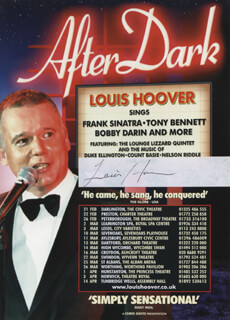 LOUIS HOOVER - ADVERTISEMENT SIGNED