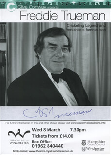 FREDDIE TRUEMAN - ADVERTISEMENT SIGNED