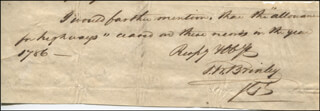 Autographs: MAYOR FRANCIS WILLIAM BRINLEY - AUTOGRAPH LETTER FRAGMENT SIGNED