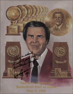 DENNY CRUM - PRINTED ILLUSTRATION SIGNED IN INK