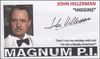 JOHN HILLERMAN - PRINTED CARD SIGNED IN INK