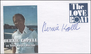 BERNIE KOPELL - PRINTED CARD SIGNED IN INK