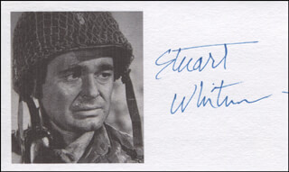 STUART WHITMAN - PRINTED CARD SIGNED IN INK