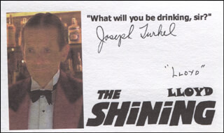 JOSEPH TURKEL - PRINTED CARD SIGNED IN INK