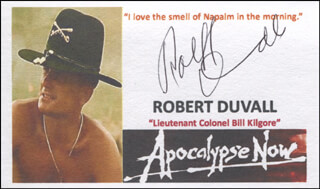ROBERT DUVALL - PRINTED CARD SIGNED IN INK