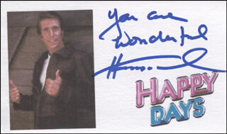 HENRY THE FONZ WINKLER - AUTOGRAPH SENTIMENT SIGNED