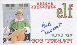BOB NEWHART - PRINTED CARD SIGNED IN INK