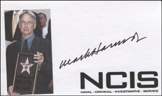 MARK HARMON - PRINTED CARD SIGNED IN INK