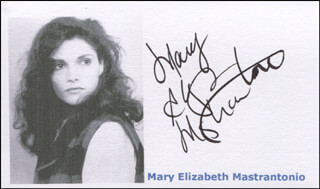 MARY ELIZABETH MASTRANTONIO - PRINTED CARD SIGNED IN INK