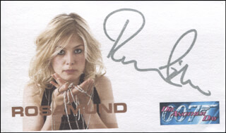 ROSAMUND PIKE - PRINTED CARD SIGNED IN INK