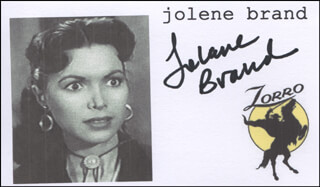 Autographs: JOLENE BRAND - PRINTED CARD SIGNED IN INK