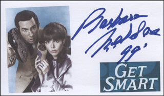 BARBARA FELDON - PRINTED CARD SIGNED IN INK