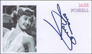 JANE POWELL - PRINTED CARD SIGNED IN INK