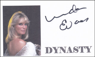 LINDA EVANS - PRINTED CARD SIGNED IN INK