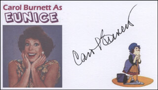 CAROL BURNETT - PRINTED CARD SIGNED IN INK