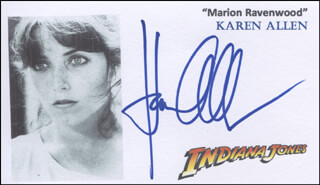 KAREN ALLEN - PRINTED CARD SIGNED IN INK