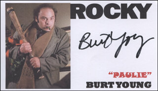BURT YOUNG - PRINTED CARD SIGNED IN INK