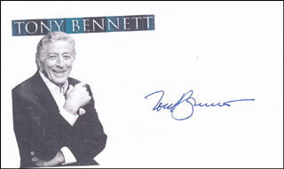 TONY BENNETT - PRINTED CARD SIGNED IN INK