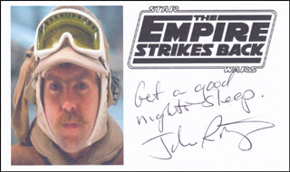 JOHN RATZENBERGER - AUTOGRAPH SENTIMENT SIGNED