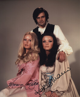 THE HORROR OF FRANKENSTEIN MOVIE CAST - AUTOGRAPHED SIGNED PHOTOGRAPH CO-SIGNED BY: KATE O'MARA, VERONICA CARLSON