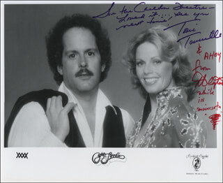 CAPTAIN & TENNILLE - INSCRIBED PRINTED PHOTOGRAPH SIGNED IN INK CO-SIGNED BY: CAPTAIN & TENNILLE (DARYL DRAGON), CAPTAIN & TENNILLE (TONI TENNILLE)