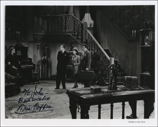 TRIS COFFIN - AUTOGRAPHED INSCRIBED PHOTOGRAPH