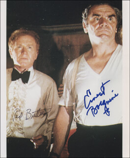 THE POSEIDON ADVENTURE MOVIE CAST - AUTOGRAPHED SIGNED PHOTOGRAPH CO-SIGNED BY: ERNEST BORGNINE, RED BUTTONS