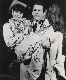 GET SMART TV CAST - AUTOGRAPHED SIGNED PHOTOGRAPH CO-SIGNED BY: DON ADAMS, BARBARA FELDON