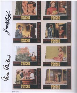 PSYCHO! MOVIE CAST - AUTOGRAPHED SIGNED PHOTOGRAPH CO-SIGNED BY: VERA MILES, JANET LEIGH