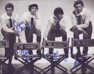 THE (YOUNG) RASCALS - AUTOGRAPHED SIGNED PHOTOGRAPH CO-SIGNED BY: YOUNG RASCALS (FELIX CAVALIERE), YOUNG RASCALS (EDDIE BRIGATI), YOUNG RASCALS (DINO DANELLI), YOUNG RASCALS (GENE CORNISH)