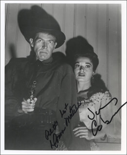 THE TALL MAN TELEVISION CAST - AUTOGRAPHED SIGNED PHOTOGRAPH CO-SIGNED BY: JAMES COBURN, DONNA MARTELL