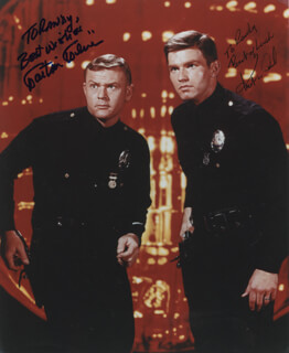Autographs: ADAM 12 TV CAST - INSCRIBED PHOTOGRAPH SIGNED CO-SIGNED BY: KENT McCORD, MARTIN MILNER