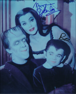 THE MUNSTERS TV CAST - AUTOGRAPHED SIGNED PHOTOGRAPH CO-SIGNED BY: BUTCH PATRICK, YVONNE DE CARLO
