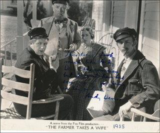 ANDY DEVINE - AUTOGRAPH NOTE ON PRINTED PHOTOGRAPH SIGNED IN INK