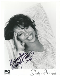 GLADYS KNIGHT - PRINTED PHOTOGRAPH SIGNED IN INK 2000