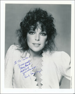 CAROLE BAYER SAGER - AUTOGRAPHED INSCRIBED PHOTOGRAPH