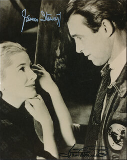 YOU GOTTA STAY HAPPY MOVIE CAST - AUTOGRAPHED SIGNED PHOTOGRAPH CO-SIGNED BY: JOAN FONTAINE, JAMES JIMMY STEWART