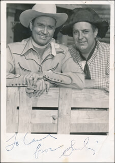 SMILEY (LESTER) BURNETTE - AUTOGRAPHED INSCRIBED PHOTOGRAPH