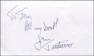JOHN TURTURRO - AUTOGRAPH NOTE SIGNED